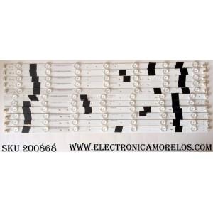 KIT DE LED PARA TV / SHARP F95N8LP39I / 0981010221F6 / BL-F95N8LP39I-2-1-A55-F / MODELO LC-55UB30U / PANEL LSC550FN04-C01