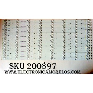 KIT DE LED PARA TV / VIZIO E700DLB0015-007 / E356289 / E70DLBE7 / MODELOS E70-E3 / E70-C3 LFTRSAAR / E70-C3 LFTRSAAS / PANEL S700DUA-2