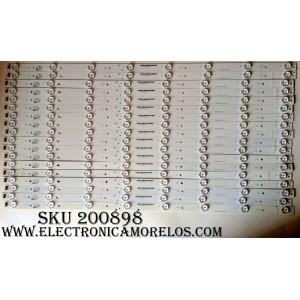 KIT DE LED PARA TV / VIZIO E700DLB003-002 / E340369 / E70DLBE7 / MODELOS E70-E3 / E70-C3 LFTRSAAR / E70-C3 LFTRSAAS / PANEL S700DUA-2