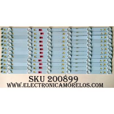 KIT DE LED´S PARA TV / VIZIO 210BZ06D0 (12 PIEZAS) / 500TT43 V4 / E465853 7410A / PANEL TPT500J1-HVN07.U REV.S500G / MODELO D50-D1 LTMWTQIS