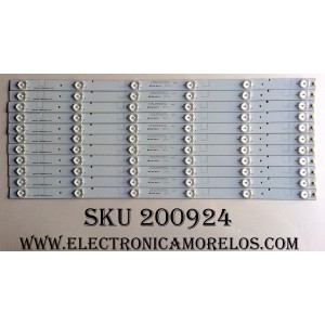 KIT DE LED PARA TV / HISENSE 1134062 (11 PZAS.) / LBM500P0601-R-1 (0) / 1134062 HD500DF-B0114 / HD500DF-B0114 / MODELO LED50K20JD