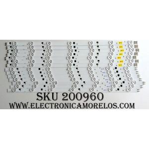 KIT DE LED PARA TV / SAMSUNG DE550CGA-B1 / 55-3535LED-98EA-R / 55-3535LED-98EA-L / D1GE-550SCB-R3 / MODELOS UN55EH6000FXZA AH01 / UN55EH6000FXZA AH03