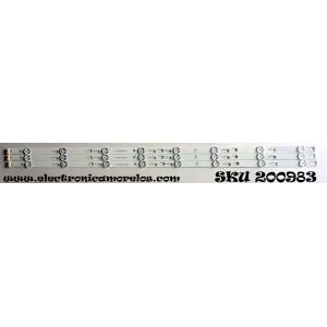 KIT DE LED PARA TV / TCL YHE-4C-LB400T-YH6 / 006-P1K3437B / TOT_40F3800_3X8_3030C_V1 / MODELO 40FS3800 / PANEL LVF400SS0T E6