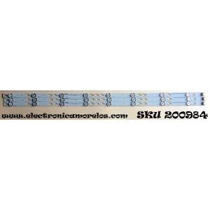 KIT DE LED`S PARA TV (2 PIEZAS)  / TCL OEM40LB04_LED3030 / ZM-GS-V1-02 4C-LB400T-ZM3 64P K0073 03517 04202 / ZM-GS-09 / 4C-LB400T-ZM3 / 61G K0072 / MODELO 40FS3800 / PANEL LVF400SS0T E6