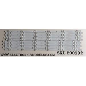 KIT DE LED PARA TV / TOSHIBA DLED5572-2835-6 / K550WDR / SVK550AJ3_REV02_6LED_B_150617 / 7838-581012-07207223 / MODELO 55L310U Rev. A / PANEL K550WDR-HE350 REV: (3)A+3