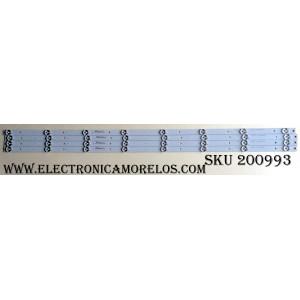 KIT DE LED PARA TV (4 PIEZAS) / ELEMENT CRH-T43Y163535040865S / CRH-T43Y163535040865S-REV1.1B / 21005050 / A9L07J2ECA367BT / MODELOS ELST4316S D6A1M / ELST4316S G6E0M / ELST4316S H6E0M / ELST4316S J6E0M / PÁNEL LC430DUY(SH)(A1)