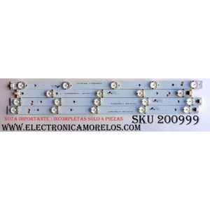 "KIT DE LED ""INCOMPLETOS PRECAUCION SOLO SON (""4 PZAS.) IMPORTANTE "" / ELEMENT DLED40DX4X9002.A-2/DLED3940DX4X9002 A-1 / DLED40DX4X9002.A-2 / DLED3940DX4X9002 A-1 / MODELO ELEFT406 C1300 / PANEL K400D3HA3K"