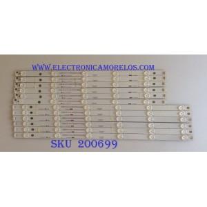 KIT DE LED PARA TV (12 PIEZAS) / HITACHI LB55061 / 55D3000/D2000 / KH-DE344144 / KHP200681A / KHP200682A / MODELOS LE55A6R9 / LE55A6R9A / PANEL C550F15-E6-H
