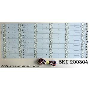 KIT DE LED`S PARA TV (14 PIEZAS) / ELEMENT 910-600-1008 / CRH-M603535120743UREV1.1C / CRH-M603535120743U REV1.1C / CRH-M603535120743U / E169373 / PANEL JE600D3HE67 / MODELOS ELEFW605 / ELEFW606 / LC-60LE644U