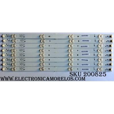 KIT DE LED´S PARA TV (8 PIEZAS) / TCL 40-LB3910-LBA2XG / KB6160 / J2120515SB283K2 / KFFX/39L0201-LB410AA/15677 / PANEL LVF390CMTME11V3 / MODELO LE39FHDF3300TA