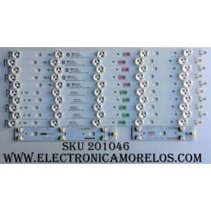 KIT DE LED´S PARA TV (10 PIEZAS) / 2013SONY40B / 2013SONY40A  / 3228 05 REV:1.0 / P119 E 033465 A4E 033 / P119 E 032626 A4F 033 / 1-889-701-12 / 1-889-702-12 (173476712) / PANEL LSY400HN01-B01 / MODELO KDL-40W600B