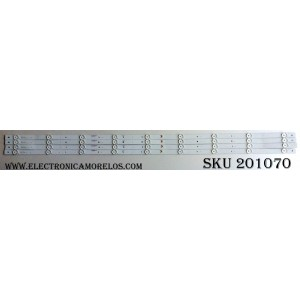 "KIT DE LED PARA TV (4 PIEZAS) / PROSCAN K49EM3030T040964J-Rev1.1 / M01Y158K22KAA1689K / 8149010649007 / PANEL HV490FHB-N8D / CN49DX78D / MODELO 49"""