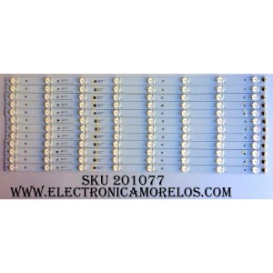 "KIT DE LED´S PARA TV (12 PIEZAS) / RCA 26AL A4M30 / 01.JL.D58081235-031AS-R7N / N160413 / T411 / MODELO 58"" / PANEL V580HL1-PE6-12V"