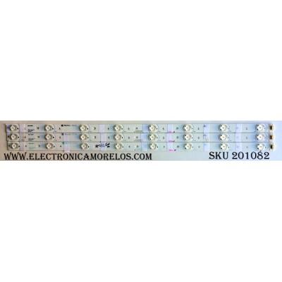 KIT DE LED´S PARA TV (3 PIEZAS) / (NOTA:COMPARAR PANEL Y LED´S) / RCA 32INCH WS V2.0 / 32INCH WS V2.0 PITCH 80MM / E227809 / PANEL´S T315HW0-V8 / T315HB01 V.1 / T315HW07-V8 / T320HW07 / LSC320AN01-QYE / HV320WX2-200 / MODELOS LED32C45RQ / LED32C45RQD