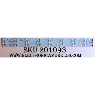 KIT DE LED`S PARA TV (3 PIEZAS) / RCA LK315T3HB87-12V / 01.JL.D3281235-31CS / L96M32 D140619 / MODELO LED32G30RQ