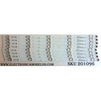 KIT DE LED`S PARA TV (8 PIEZAS) / TCL 4C-LB4805-HQ4 / 48HR330M05A1  V2 / 48D2700 / HR-56524-01034 / LD2RA2U1-D-K / PANEL LVF480CS0T E29 / MODELO 48FS3750
