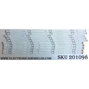 KIT DE LED`S PARA TV (10 PIEZAS) / LG EAV63632405 / 55UJ63_UHD_A / 55LJ55_FHD_A / 55UJ63_UHD_B / 55LJ55_FHD_B / SSC_55LJ55/55UJ63_B_8LED_REV01_160922 / PANEL NC550DGG-AAFX3 / MODELO 55UJ6300-UA BUSYLOR