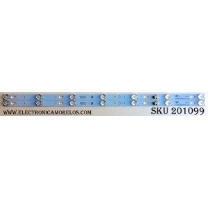 KIT DE LED`S PARA TV (2 PIEZAS) / TCL 32HR330M07A2 V2 / HR-66512-08931 / LD6RA2U2-C-K / 4C-LB3207-HQ1 / 32D2700 / PANEL`S LVW320CS0T E273 / ST3151A05-A VER 2.1 / MODELO 32S3800TSAA