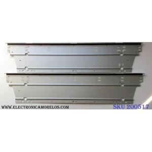 KIT DE LED´S (2 PIEZAS) / VIZIO GK0404 / 80INCH 7030PKG 56EA A TYPE REV0.1 20121220 / 80INCH 7030PKG 56EA B TYPE REV0.1 20121220 / PANEL'S JE800D3LA8N / JE800D3GW50M / MODELOS M801d-A3 LFTROYAP / M801d-A3 LFTROYCQ / LC-80LE650V