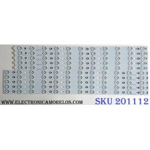 KIT DE LED`S PARA TV (10 PIEZAS) / SANYO V580H1-LD6-TRDC2 / V580H1-LD6-TLDC2 / PANEL V580HK1-LD6 REV.C1 / MODELO DP58D34 P58D34-00