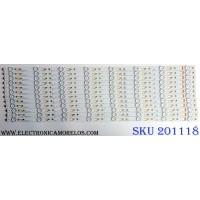 KIT DE LED`S PARA TV (12 PIEZAS) / SANYO 4C-LB650T-YH1SY / 006-P2K2165A / TCL_00M_650D30_3030C_12X8 / PANEL LVF650CMDX E1 V1 / MODELO FW65D25T