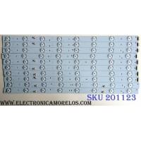 KIT DE LED`S PARA TV (10 PIEZAS) / PIONEER LED46D16-ZC14-01(B) / LED46D16-ZC14-02 / LED46D16-ZC14-03 / LED46D16-ZC14-04 / LED46D16-ZC14-05 / 3034601620A / 30346016206 / 30346016207 / 30346016208 / 30346016209 / PANEL HV460WU2-200 / MODELO PLE-4602FHD