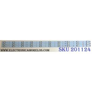 KIT DE LED`S PARA TV (3 PIEZAS ) / SCEPTRE A7L07H371ECA438PK / CRH-K393535T031038A-Rev1.0 / PANEL CN40HA701 / MODELO X409BV-FHDR8HVN01
