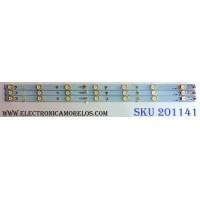KIT DE LED`S PARA TV (3 PIEZAS) / INSIGNIA U-EBHC23F4 / GJ-2K15 D2P5-315D307-V1 / 01G98-A / PANEL TPT315B5-HVN05.A REV:S600A / MODELO NS-32DR420NA16
