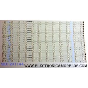 KIT DE LED`S PARA TV (18 PIEZAS) / VIZIO E700DLB002.005 / E700DLBP70E792 / E340369 / PANEL S700FU1-3 / 76040YR00-600-G / 0000992 / MODELOS P702UI-B3 BFLFTRREAQ / P702UI-B3 LFTRREAQ