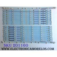 KIT DE LED´S PARA TV VIZIO (16 PIEZAS) / VIZIO TPT500J1-LE8 REV.SC2A / 500TT20 V3 / 500TT19 V3 / 500TT18 V4 / 500TT17 V4 / YX-50017011-3B544-0-E / MODELOS E500I-B1 LTY6PLKR / E500I-B1 LTY6PLGQ / E500I-B1 LTYWPLDQ / D500I-B1 LTY6RTAQ / D500I-B1 LTYWRTBQ