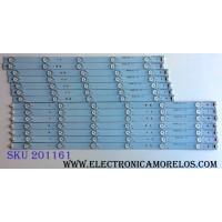 KIT DE LED´S PARA TV (14 PIEZAS) / SHARP GJ-500-DLEDII-D711-L-V2 / GJ-500-DLEDII-D711-R-V2 / LE-600 / E348423 / PANEL´S TPT500J1-HVN04 REV:S16SM / TPT500J1-HVN04 REV:S17TE / MODELOS LC-50LE541U / LC-50LE542U