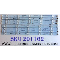 KIT DE LED´S PARA TV (8 PIEZAS) / WESTINGHOUSE D256R-F-H / 3.08.400410A-R / 3.08.400410A-L / PHH-B23-F5 / PANEL CN40HC476 / LSC400HM06-S03 / MODELO DWM40F1G1 TW-75701-S040S