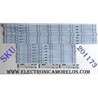 KIT DE LED´S PARA TV (14 PIEZAS) / SONY SBT55 636 / 55039D715SN1R / 55039D715SN1L / EBLA3T4 / 187917211 / PANEL YD7S550DND01B / A2187580A / MODELO XBR-55X900E