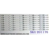 KIT DE LED´S PARA TV (8 PIEZAS) / CHANGHONG 023S1B31 / 023S1B33 / 023S1B15 / 023S1B17 / 2013CH420 13Y LVED 3228 05 REV1.0 130405 / PANEL M420F13-E1-L(G1) / MODELO LED42YC2000UA