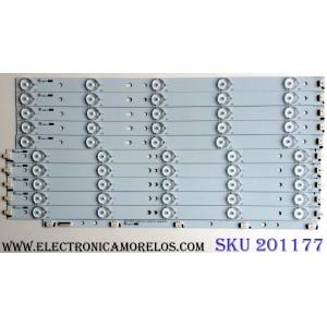 KIT DE LED´S PARA TV (10 PIEZAS) / VIZIO 39.0-D510-R-C2 / 39.0-D510-L-C2 / EPIHB45F5C913-F46 / 39.0-2K13 / PANEL TPT390J1-HVN04 REV:S000M / MODELOS E390I-A1 / E390I-A1 LTYWNQQP / E390I-B1E LTTWPSCQ / E390I-A1 LTYWNQFQ