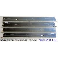 KIT DE LED´S PARA TV (4 PIEZAS) / VIZIO 3660L-0351A 1-1 / 3660L-0345A 1-1 / AG1027 / LG Innotek 37 inch Rev 0.6 54EA TYPE-A / LG Innotek 37 inch Rev 0.6 54EA TYPE-B / PANEL LC370EUH (SC)(A1) / MODELO M370VT LTLPHOAL