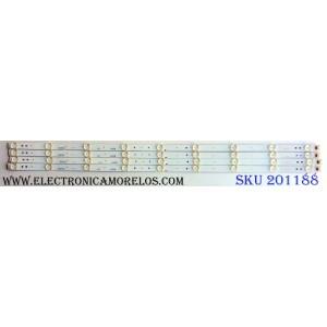 KIT DE LED´S PARA TV (4 PIEZAS) / WESTINGHOUSE 3P40DX001 / 0340DX001 / 21004788 / D6A232054 / D6A232055 / D6A232056 / D6A232057 / PANEL´S MD4004YTSF / LSC400HN02-8 / MODELOS WD40FB1530 TW-08701-S040V