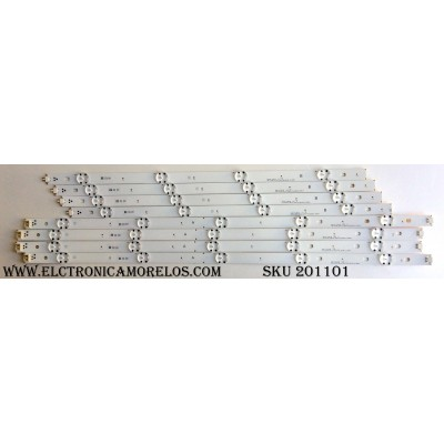 KIT DE LED`S PARA TV (8 PIEZAS) / LG GHYB24N1B GAN011005A / GEYB24N1B GAN011006A / _REV05_B_150514 / _REV05_A_150514 / PANEL`S NC490DGE-SADP2 / NC490DGE-SADP3 / LC490EGY (SH)(A2) / MODELOS 49UF6400-UA BUSYLOR / 49UH6030-UD AUSWLOR