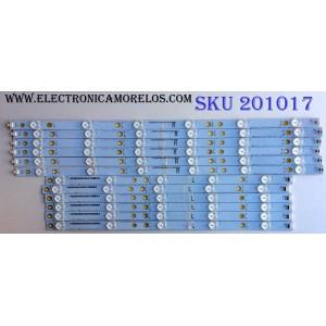 KIT DE LED´S PARA TV (12 PIEZAS) / SHARP 500TT65/500TT66 / 500TT65 / 500TT66 / KIT DE LED SUSTITUTAS 500TT61/500TT62 / PANEL TPT500J1-HVN07.U REV:S600F / MODELOS LC-50LB370U / LC-50LB371U
