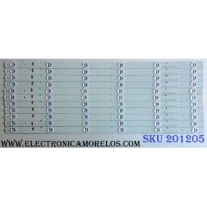 KIT DE LED´S / PARA TV (11 PIEZAS) / INSIGNIA SVH550AB1 / YFD01 / E350839 / SVH550AB1_6LED_REV0_131030 / 1134172 / PANEL´S HD550DF-B31(010)\S2\BBY\GM\ROH / LSC550HN01-K01 / MODELOS NS-55D420NA16  / L55K220 / LED55K20JD / LED55EC290N / LED55EC280JD