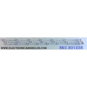 "KIT DE LED´S PARA TV (3 PIEZAS) / LG 32""ROW2.1 REV0.9 1  A1-TYPE 6916L-1204A / 32""ROW2.1 REV0.9 1 A2-TYPE 6916L-1205A / SRD717 EB / 6091L-2223A / PANEL LC320DXE (SF)(R1) / MODELO 32"""