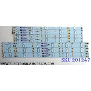 KIT DE LED´S PARA TV (12 PIEZAS) / SHARP TT5008T V0_00 / TT5008T V1_00 / 210BZ05DL43030L13L / 210BZ05DR43030L13L / PANEL TPT500J1-HVN07.U REV:S500C / MODELO LC-50LB481U