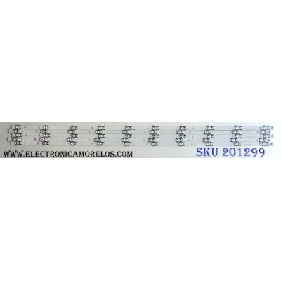 KIT DE LED´S PARA TV (5 PIEZAS) / HISENSE SVH500A62_REV02_10W1COP_UBH+S1LK_160823 / SVH500A62_REV02 / E306084 / 1171230 / AB105B1 / S0612H / PANEL HD500K3U02-T1F1\S0\GM\ROH / HD500K3U02 / MODELOS 50DU6070 / 50H6D