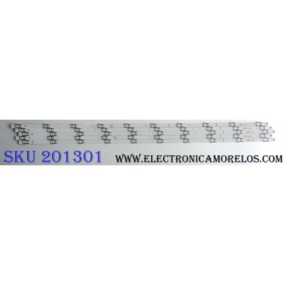 KIT DE LED´S PARA TV (5 PIEZAS) / HISENSE SVH500A63_REV03_10WICOP_UBH+SILK_161228 / SVH500A63&A69 / F4B105B1 / 1177748 / S0722Q / E320262 / PANEL`S HD500K3U54\S0\GM\ROH / HD500K3U54\S8\GM\CKD\ROH / MODELO 50H6D