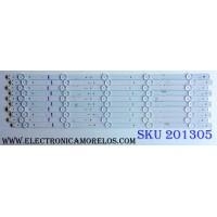 KIT DE LED´S PARA TV (11 PIEZAS) / HISENSE 1174600 / LM41-00213A / SAMSUNG_2015CHI550_FCOM_05_E33_15_REV1.0_151117 / E166702 / PANEL HD550K3F81-TX\S2\GM\ROH / 211065 / MODELO 55H4D