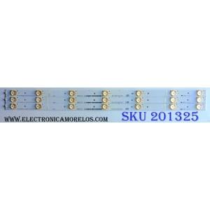 KIT DE LED´S PARA TV (3 PIEZAS) / INSIGNIA 1136774 / Hisense_32_HD315DH-B21_3x7_3030C_7S1P / E213009 / HE32LSESE15V86 / PANEL HD315DF-B71\S0\GM\ROH / MODELO NS-32D511NA15 Rev B