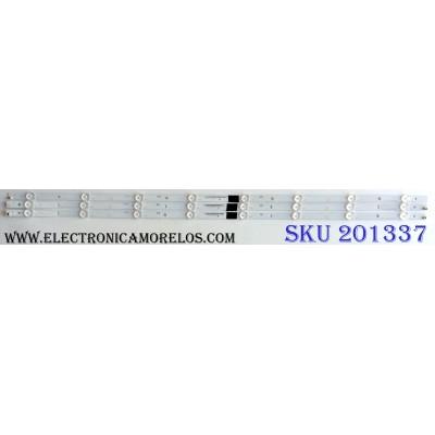KIT DE LED´S PARA TV (3 PIEZAS) VIZIO IC-B-VZAA39D690 / IC-B-VZAA39D690A / IC-B-VZAA39D690B / IC-B-VZAA39D690C / E330254 / SC3S / 098101003125 / 098101003126 / 098101003127 / PANEL T390XVN01.0 / MODELO D390HN-E0