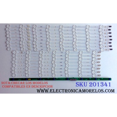 KIT DE LED`S PARA TV (16 PIEZAS) / SAMSUNG BN96-33493A / BN96-33494A / LM41-00093B / 00093C / SAMSUNG_2014SVS55 / 140526 / PANEL CY-VH055FGLV1H / MODELOS UE55HU7100 / UN55HU7250 / UN55HU7200 / UA55HU7800 / UE55HU7205UXXE / NOTA:MAS MODELOS EN DESCRIPCION
