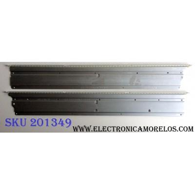 KIT DE LED´S PARA TV (2 PIEZAS) / HISENSE SAMSUNG 2012CHI460 B31 7020 64LED REV1.1 MS9 D1413 / GT-1113510-A / GT-1113509-A / JT-1113510-A RIGHT 130416 / JT-1113509-A LEFT 130410 / PANEL HE460GF-B51\PW1 / MODELOS 46K360M / 46K360MN