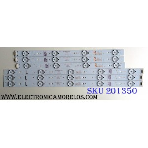 KIT DE LED´S PARA TV (6 PIEZAS) / LG 5835-W40001-RP20 / 5835-W40001-LP20 / VER0.0 / 10-10126A-02A / 10-10125A-03A / PANEL RDL400FY(QD0-406)REV.00 / MODELO 40""